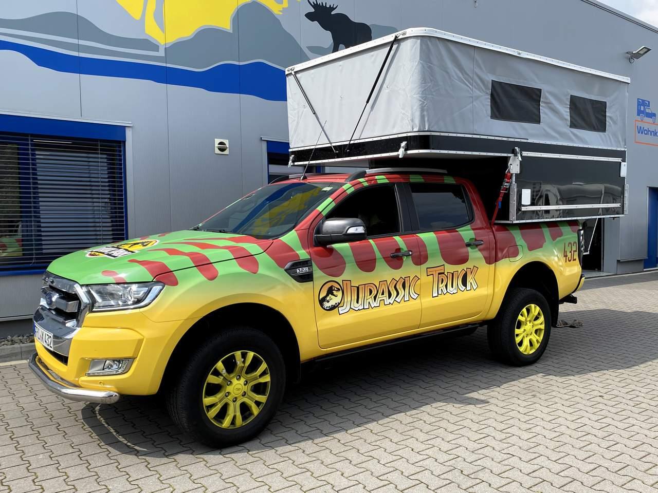 Camp Crown Wohnkabine Overlander 220 Modell 2021 auf Ford Ranger